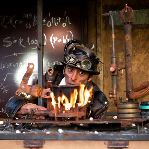 Dr. Kronovator's Fire Laboratory at Illuminate Festival, Oldham