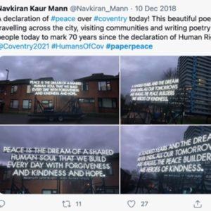 Peace Poem Tweet Coventry