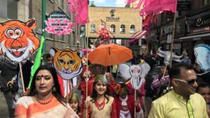 Boishakhi Mela 2017 Masks on Brick Lane