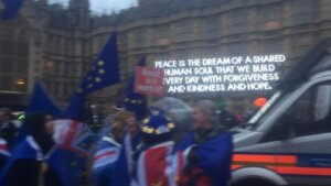 Outside Parliament on 19th March