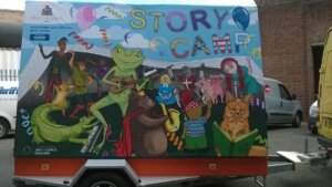 Storycamp Mobile storytelling camp for Hillingdon Libraries