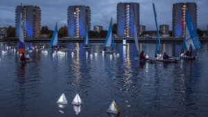 Thamesmead Festival 2017 Lanterns and Sail Boats