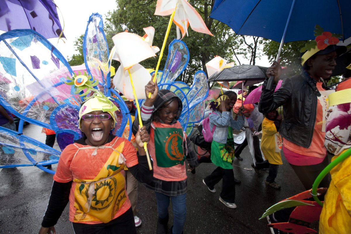 Carnival For The Torch Relay In East London