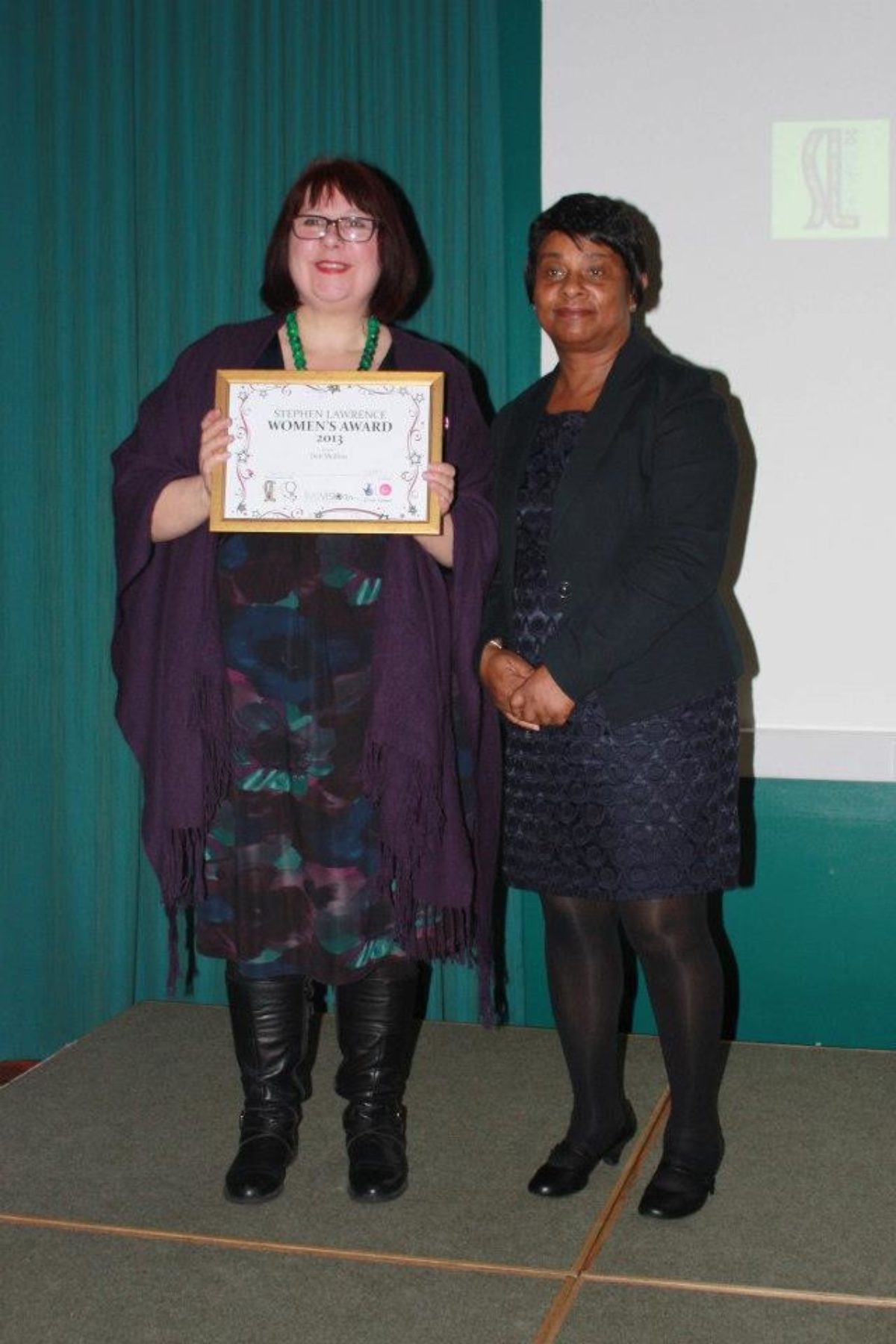 Deb Is Honoured With A Stephen Lawrence Charitable Trust Womens Award 2013
